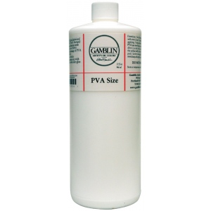 Gamblin PVA Size 32oz: 32 oz, (model G01332), price per each