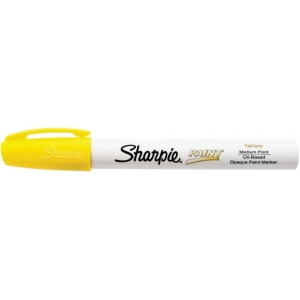 Sharpie® Oil Paint Marker Medium Yellow: Yellow, Paint, Medium Nib