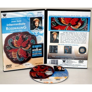 Joan Dahl DVD: Intermediate with Rosemaling Oil Painting, (1 Hour)
