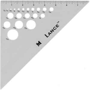 "Lance® 8"" Aluminum Triangle 45/90: 45/90, Clear, Aluminum, 8"", Triangle, (model TR4590-8), price per each"