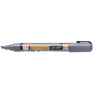 Zig®  Posterman® Wet Erase Board Marker White: White/Ivory, Water-Based, 6mm, Chisel Nib, (model PMA-550-000), price per each