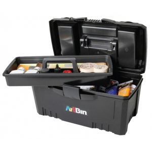 "17"" Twin Top Supply Box- Black"