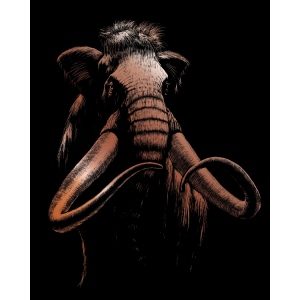 "Royal & Langnickel® Engraving Art Set Woolly Mammoth: 8"" x 10"", Metallic, (model COPF27), price per set"