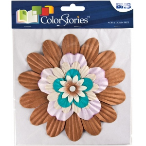 "Blue Hills Studio™ ColorStories™ Handmade Paper Stacked Flowers 6"" Dimensional"