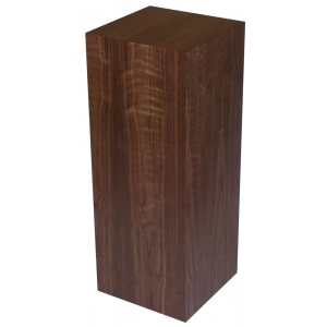 "Xylem Walnut Wood Veneer Pedestal: 18"" X 18"" Size, 12"" Height"