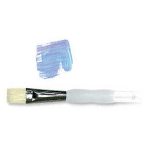Royal & Langnickel® Soft Grip™ Stiff Hog Bristle Bright Brush 10: Stiff Hog Bristle, Bright, 10, Acrylic, Oil, Watercolor