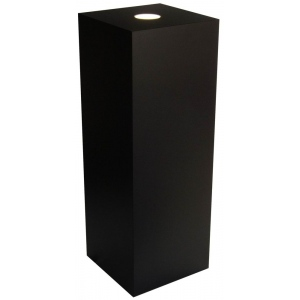 "Xylem Black Laminate Spot Lighted Pedestal: 11.5"" x 11.5"" Base, 36"" Height"