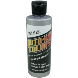 Auto-Air Colors™ Airbrush Paint 4oz Metallic Silver: Metallic, Bottle, 4 oz, Airbrush, (model 4332-04), price per each