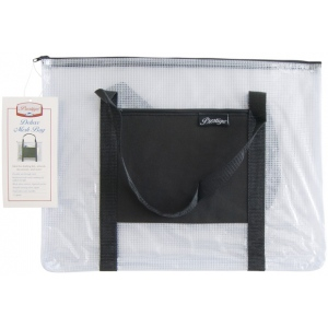 "Alvin® NBH Deluxe Series Deluxe Mesh Bag 12"" x 16"": Black/Gray, Clear, Mesh, Vinyl, 12"" x 16"", (model NBH1216), price per each"