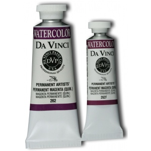 Da Vinci Artists' Watercolor Paint 15ml Permanent Magenta: Red/Pink, Tube, 15 ml, Watercolor, (model DAV262F), price per tube
