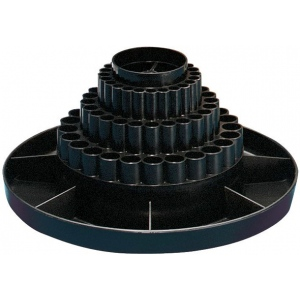 "Alvin® Spin-O-Tray Black: Black/Gray, Plastic, 10 1/2"", (model 9893-2), price per each"