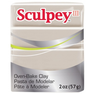 Sculpey® III Polymer Clay Elephant Gray: Black/Gray, Bar, Polymer, 2 oz