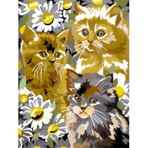 "Royal & Langnickel® Painting by Numbers™ 8 3/4 x 11 3/8 Junior Small Set Kittens & Daises: 8 3/4"" x 11 3/8"""
