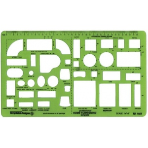 "Alvin® Home Furnishings Template: 1/4"" = 1', (model TD1155), price per each"