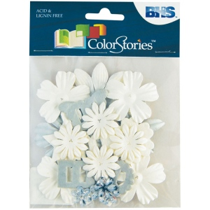 "Blue Hills Studio™ ColorStories™ Handmade Paper Potpourri White: White/Ivory, Paper, 2 1/4"", Dimensional, (model BHS10710), price per each"