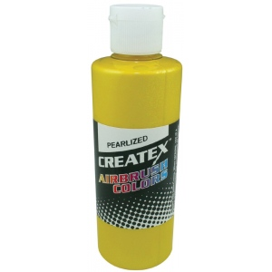 Createx™ Airbrush Paint 2oz Pearlescent Pineapple: Yellow, Bottle, 2 oz, Airbrush