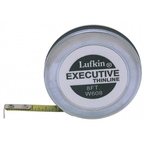 Lufkin® Thin Line 8' Pocket Tape Measure: Yellow, 8', Tape Measure, (model W608), price per each