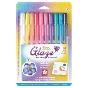 Glaze™ 3D Glossy Pen 10-Pack: Multi, Gel, Paint Pen, (model 38370), price per set