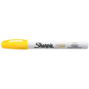 Sharpie® Oil Paint Marker Fine Yellow: Yellow, Paint, Fine Nib