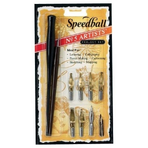 Speedball® No. 5 Artists' Project Set: Pen Holder, Calligraphy, (model H2962), price per set