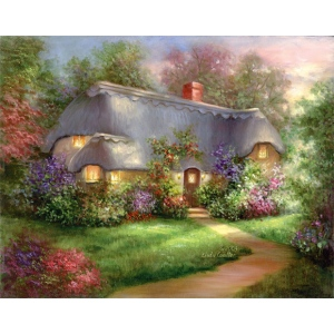 "Royal & Langnickel® Paint Your Own Masterpiece™ 11"" x 14"" Enchanted Cottage: 11"" x 14"", (model POM-SET16), price per set"