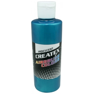 Createx™ Airbrush Paint 2oz Iridescent Turquoise: Blue, Bottle, 2 oz, Airbrush, (model 5504-02), price per each