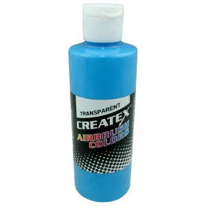 Createx™ Airbrush Paint 4oz Caribbean Blue: Blue, Bottle, 4 oz, Airbrush