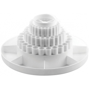 "Alvin® Spin-O-Tray White: White/Ivory, Plastic, 10 1/2"", (model 9893-1), price per each"