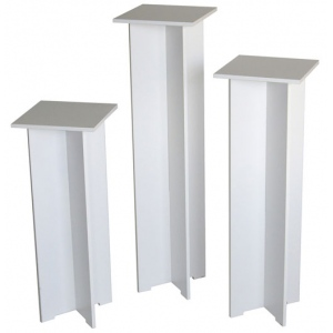 "Xylem Quick Set Pedestal, White:  Single, 11-1/2"" x 11-1/2"" Body Size, 40"" Height"