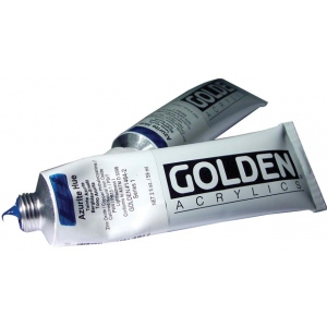 Golden® Heavy Body Historical Hue Acrylic 2 oz. Azurite Hue: Blue, Tube, 2 oz, 59 ml, Acrylic, (model 0001464-2), price per tube