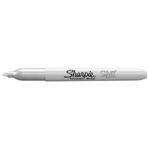 Sharpie® Fine Point Metallic Silver Permanent Marker: Metallic, Fine Nib, (model SN39013), price per each