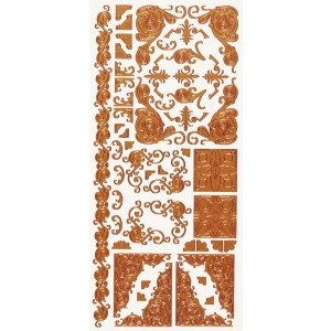 "Dazzles™ Stickers Copper Corners: Metallic, 4"" x 9"", Outline, (model HOTP1579), price per each"