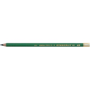 Kimberly® Drawing Pencil 4B: Black/Gray, 4B, Drawing, (model 525G-4B), price per dozen (12-pack)