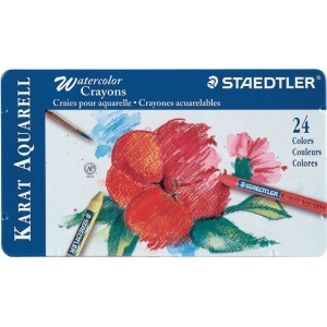 Staedtler® Karat Aquarell Watercolor Crayon 24-Color Set: Watercolor