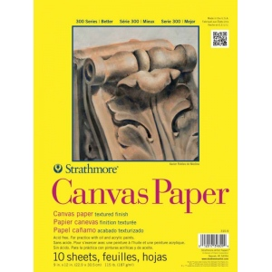Strathmore® 300 Series Glue Bound Canvas Paper Pad