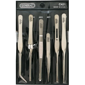 General® Tweezers Set: Tweezers, (model GC421), price per set