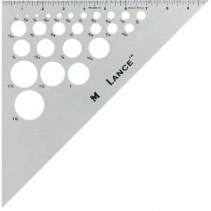 "Lance® 10"" Aluminum Triangle 45/90: 45/90, Clear, Aluminum, 10"", Triangle, (model TR4590-10), price per each"