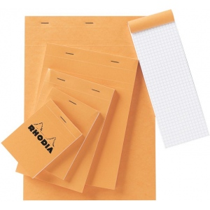"Rhodia 6 x 8.5 Graphic Sketch/Memo Pad: White/Ivory, Pad, 5"" x 5"", 80 Sheets, 6"" x 8 1/2"", 20 lb, (model RA16), price per 80 Sheets pad"