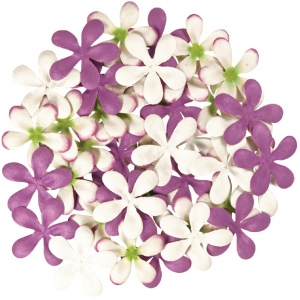 "Blue Hills Studio™ Irene's Garden™ Pack O'Plumerias Purple Splash: Purple, Paper, 2"", Dimensional, (model BHS107529), price per pack"