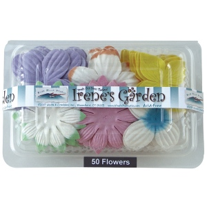 "Blue Hills Studio™ Irene's Garden™ Box O'Blooms Flower Pack 6-Color Assortment: Multi, Paper, 2""+, Dimensional, (model BHS107511), price per pack"