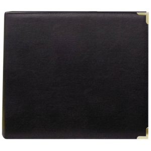 "Pioneer® 12 x 12 3-Ring Scrapbook Binder Black Oxford: Black/Gray, Leatherette, 12"" x 12"""
