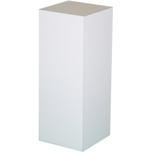 "Xylem White Laminate Pedestal: 15"" x 15"" Base, 18"" Height"