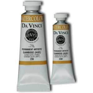 Da Vinci Artists' Watercolor Paint 15ml Gamboge Hue: Orange, Tube, 15 ml, Watercolor