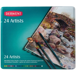 Derwent Artist Pencil 24-Color Tin Set: Multi, (model 32093), price per set
