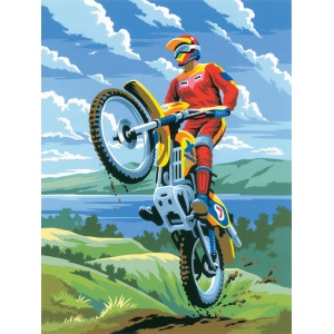 "Royal & Langnickel® Painting by Numbers™ 8 3/4 x 11 3/8 Junior Small Set Motocross: 8 3/4"" x 11 3/8"""