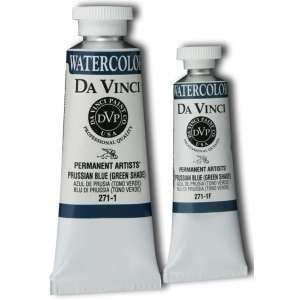 Da Vinci Artists' Watercolor Paint 15ml Prussian Blue Green Shade: Blue, Tube, 15 ml, Watercolor