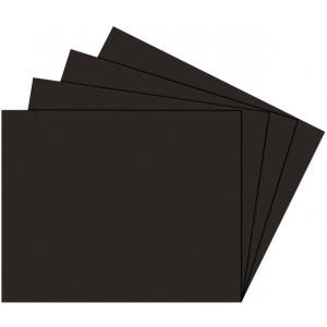 "Alvin® Black on Black Presentation Boards 8"" x 10"": Black/Gray, Matte, Sheet, 25 Sheets, 8"" x 10"", Photography Presentation Board, (model PB810-25), price per 25 Sheets box"