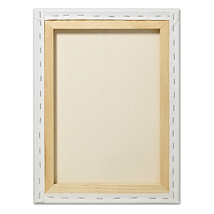 "Fredrix® Artist Series Red Label 10"" x 10"" Stretched Canvas: White/Ivory, Sheet, 10"" x 10"", 11/16"" x 1 9/16"", Stretched"