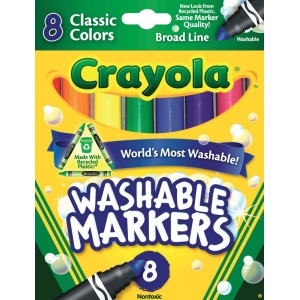 Crayola® Classic Marker Broad Line 8-Color Set: Multi, Washable, (model 58-7808), price per set