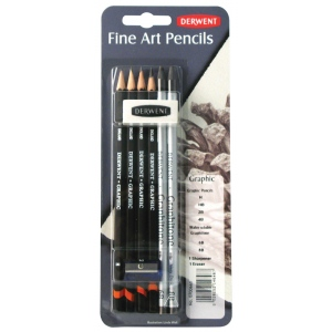 Derwent Graphic Pencil Mixed Media Set: Black/Gray, Drawing, (model 0700661), price per set